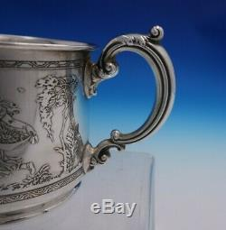 Reed and Barton Sterling Silver Baby Cup Acid Etched Young Girls #1046 (#4810)