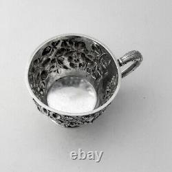 Repousse Floral Cup Jacobi Jenkins Sterling Sterling Mono GRH