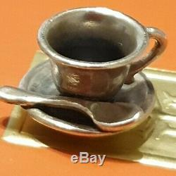 RetiredJames Avery Coffee Tea Cup and Spoon Sterling Silver 925 Charm