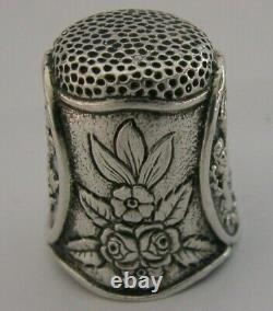SCOTTISH SOLID STERLING SILVER LARGE 44g THIMBLE TOT SHOT CUP 1990 QUEEN MUM