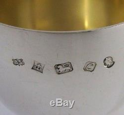 SOLID STERLING SILVER LARGE TUMBLER CUP 1977 BARWARE 100g