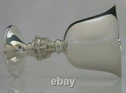 STUNNING ENGLISH SOLID STERLING SILVER CHALICE GOBLET CUP 1970 120g CELTIC