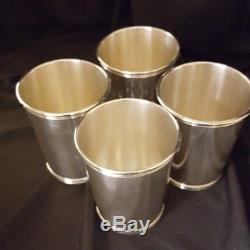 Set of 4 STERLING SILVER ALVIN MINT JULEP CUP S251 NO MONOGRAM