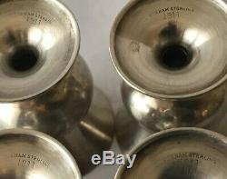 Set of 4 Vintage GORHAM STERLING Silver #1311 Goblets Cordial Cups 2-1/4 Tall