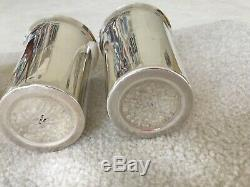 Set of (6) Highball Tumblers Mint Julep Cups Marked 950 Sterling