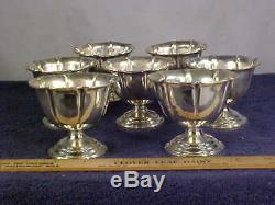 Set of 7 WEBSTER STERLING Silver SHERBET/ICE CREAM Cups