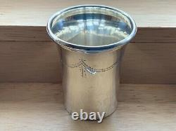 Set of SIX Sterling Solid SILVER TOT CUPS. Birmingham 1966 Alexander Smith 132g