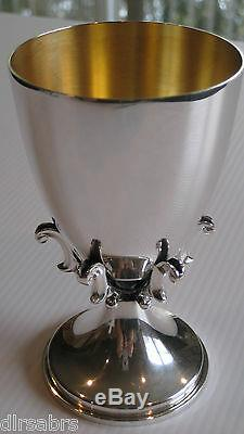 Silverclaw Kiddush Cup 925 Sterling Silver Crafted by Benny Dabbah Israel