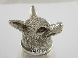 Smart Vintage Solid Sterling Silver Fox Head Stirrup Cup Francis Howard 1979