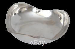 Sterling Heavy Mexico Taxco Silver rare waved shaped plate bowl