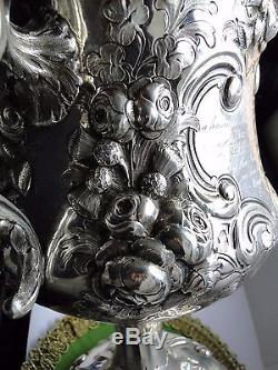 Sterling Silver Antique Trophy Cup Chased Engraved Inscribed London 1863 VIC