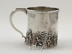 Sterling Silver Christening Mug Youth Cup 2 7/8 with WHR Monogram