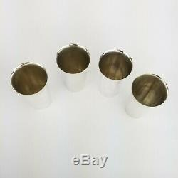 Sterling Silver Fisher 76 Mint Julep Tumbler Cup Set of 4
