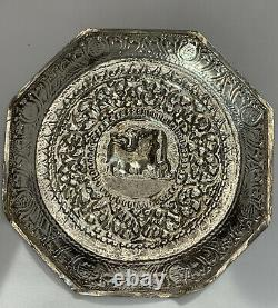 Sterling Silver Lion and Elephant Tea Cup and Dishes