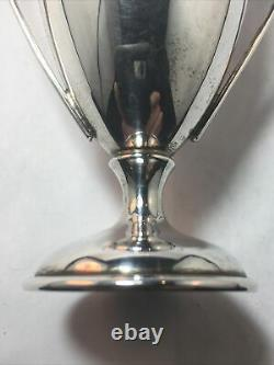 Sterling Silver Miniature Trophy Vase / Twin Handled Cup No Monogram