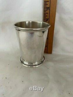 Sterling Silver Mint Julep Cup Poole 58 3 3/4 vintage
