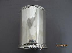 Sterling Silver Mint Julep Cup With Beaded Border
