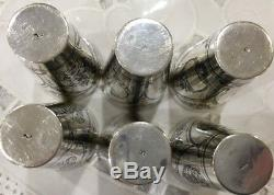 Sterling Silver- Set Of 6 Russian 875 Niello Silver Wine Cups -antiques-judaica
