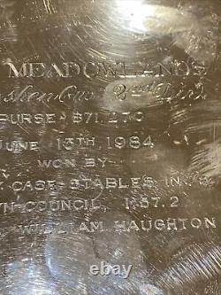 Sterling Silver Trophy CUP Horse Racing'84 THE MEADOWLANDS GOSHEN 2nd Div 5.9oz