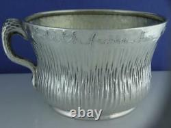 Sterling TIFFANY & CO Cup / Mug AESTHETIC with hammered finish & acid etched c1883