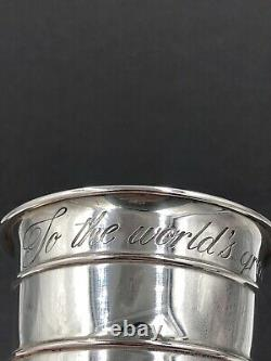 Sterling silver 1 Cup measure' To The Worlds Greatest Cook