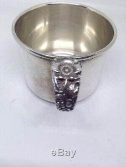 Stieff FORGET ME NOT Sterling Silver BABY CUP No Monograms Heavy