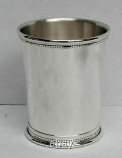 Superb Heavy Sterling Silver 176 Gram Beaded Mint Julep Cup