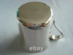 TIFFANY sterling silver NEW CLASSIC BABY CHILD CUP 23245 box, pouch, card