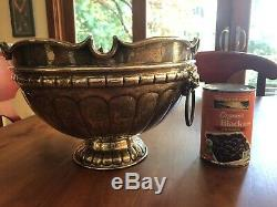 Tane Orfebres Mexican Master Of Silver Sterling Silver Punch Bowl With 10 Cups