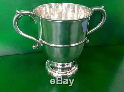Thomas Farren Georgian Antique English Sterling Silver Loving Trophy Cup 1732