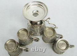 Tiffany & Co 4 Sterling Silver Demitasse Cups & D & H Master Cup Please Read