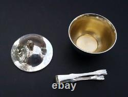 Tiffany & Co Makers Sterling Silver Small Lidded Mint Cup With Tongs
