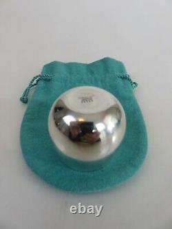 Tiffany & Co Mid Century Modern Sterling Silver Liquor Shot Cup & Pouch