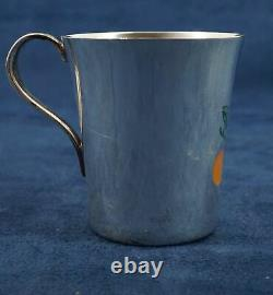Tiffany & Co Sterling Enameled Child's Cup 2 Free Shipping USA