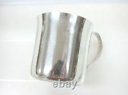 Tiffany & Co. Sterling Silver 925 Baby Cup With Handle 23245 NO Monogram Q1AB