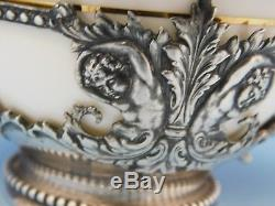 Tiffany & Co. Sterling Silver Bouillon Cup withCherubs/Liner withGold Border/Flowers