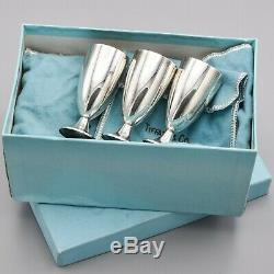 Tiffany & Co. Sterling Silver Cordial Cups Set of 3 107.2 Grams