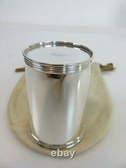 Tiffany & Co Sterling Silver Mint Julep Cup & Pouch, c1960s