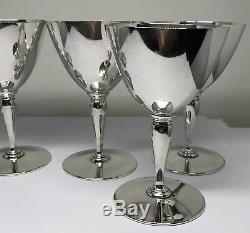 Tiffany & Co Sterling Silver Set of 5 Cordial Goblet Cups