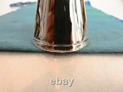 Tiffany & Co Tall Modernist Sterling Silver Double Jigger Shot Cup & Pouch c1925