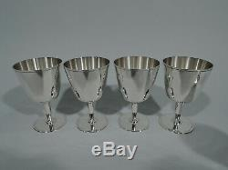 Tiffany Goblets 21378 12 Art Deco Cocktail Cups American Sterling Silver