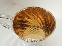 Tiffany Sterling Silver Italy Gold Wash Cup Tiffany Pouch and Box