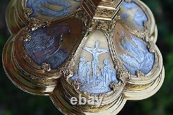 + Traditional Gothic Chalice + Cup Sterling Silver + Two Tone + BEAUTIFUL! +