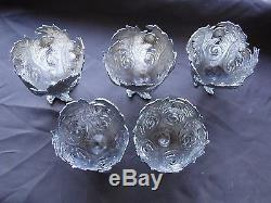 Turkish Egg Cups Sterling Silver, Antique Circa 1850 Marked, Engraved, Pierced