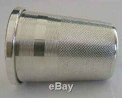 Unusual English Sterling Silver Giant Thimble Shot Spirit Cup Measure 1976