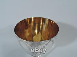 Victorian Goblet Antique Cup English Sterling Silver Roberts & Belk 1872