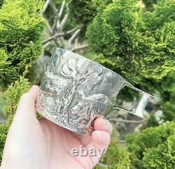 Victorian STERLING SILVER Cup Vapheio LARGE Antique CHESTER 1899 HEAVY 298g