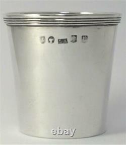 Victorian hallmarked Sterling Silver Whisky Tot Cup (Crested)Glasgow 1862 (57g)