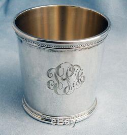 Vintage John F. Kennedy Solid Sterling Silver Presidential Mint Julep Cup withMONO