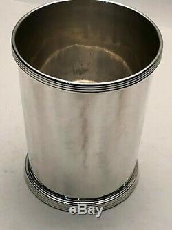 Vintage Julep Cup with Banded Border, Baldwin & Miller Inc, New Jersey circa 1920
